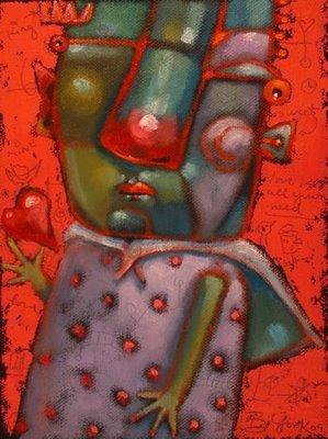 """King Of Hearts"" original fine art by Brenda York"