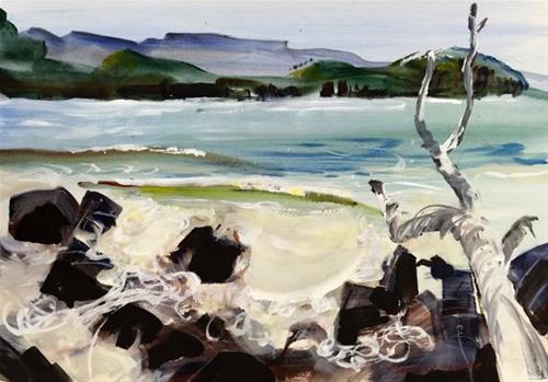 """""""Recherche Cold Waves"""" original fine art by Shirley Peters"""