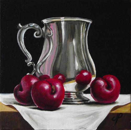 """Silver with Plums"" original fine art by Jane Palmer"