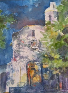 """""""Pauline Chapel"""" original fine art by Reveille Kennedy"""