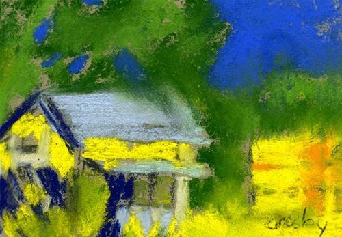 """Tracey Hay Bales"" original fine art by Donna Crosby"
