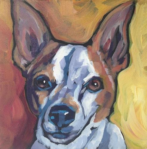 """July 22, Toby"" original fine art by Kat Corrigan"