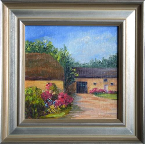 """French Farmhouse ~ Framed"" original fine art by Vikki Bouffard"
