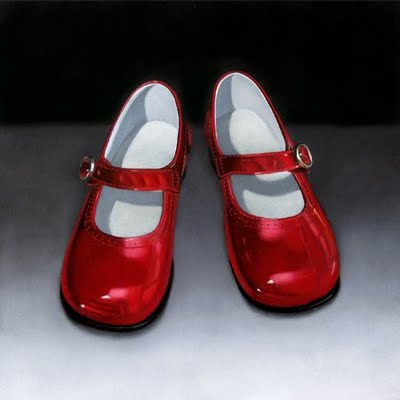"""Red Shoes 10x10"" original fine art by M Collier"