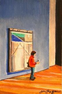 """Look Box Strikes Again"" original fine art by JoAnne Perez Robinson"