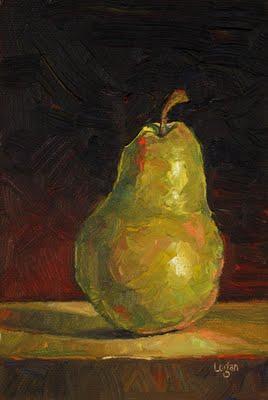 """The Obligatory Pear"" original fine art by Raymond Logan"