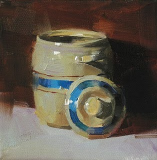 """Sugar Jar --- Sold"" original fine art by Qiang Huang"