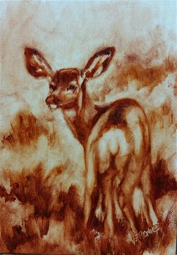"""""""All Ears-value study"""" original fine art by Veronica Brown"""