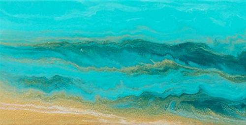 """Abstract Seascape Painting The Sea Cried Out-Mini #3 by Colorado Contemporary Artist Kimberly Conr"" original fine art by Kimberly Conrad"