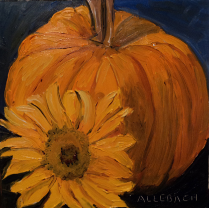 """Fall Challenge"" original fine art by Jo Allebach"
