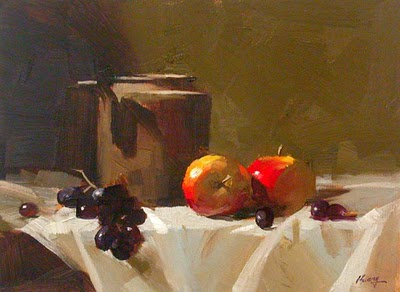 """My Still Life Demonstration"" original fine art by Qiang Huang"