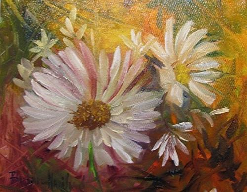 """Daisies by Barbara Haviland--BarbsGarden"" original fine art by Barbara Haviland"