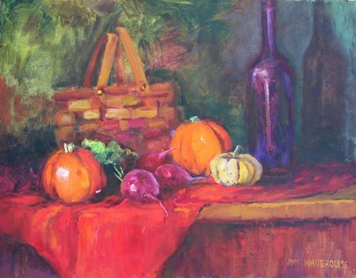 Autumn Thoughts Still Life Paintings by Arizona Artist Amy Whitehouse original fine art by Amy Whitehouse