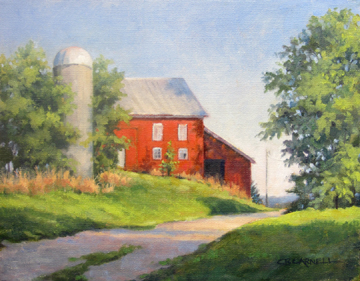 """""""LATE AFTERNOON SHADOWS Original Oil Painting by Claire Beadon Carnell"""" original fine art by Claire Beadon Carnell"""
