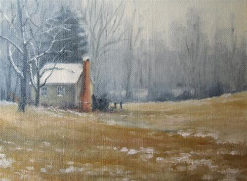 """""""SOLD LEREW ROAD SPRINGHOUSE An Original Oil Painting by Claire Beadon Carnell"""" original fine art by Claire Beadon Carnell"""