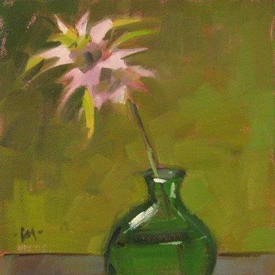 """Purple Starfloozie"" original fine art by Carol Marine"