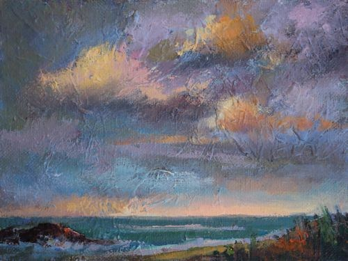 Calming the Storm Seascape Paintings by Arizona Artist Amy Whitehouse original fine art by Amy Whitehouse