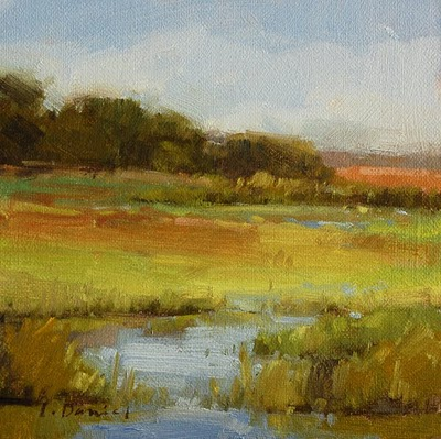 """Marshland Study"" original fine art by Laurel Daniel"