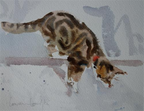 """Leaping 1"" original fine art by Lorraine Lewitzka"