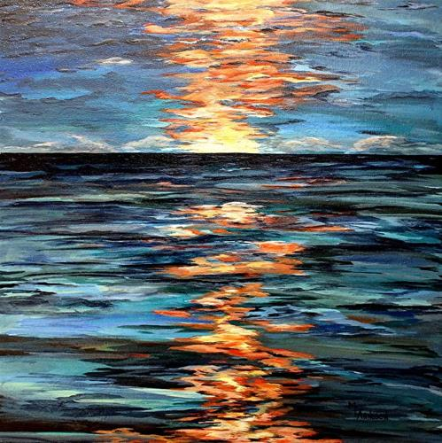 """Contemporary Seascape Art Painting Light Play by Mary Arneson Art-Works of Whimsy"" original fine art by Mary Arneson"