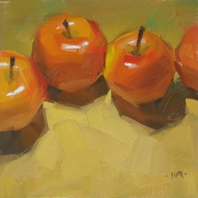 """Staggered"" original fine art by Carol Marine"