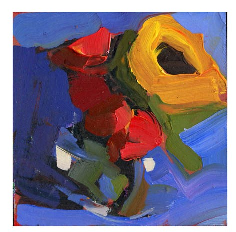 """2699 Pale Red"" original fine art by Lisa Daria"