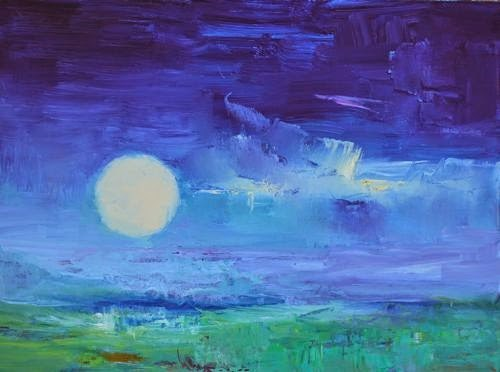 """My Night Sky, Abstract Seascape Paintings by Arizona Artist Amy Whitehouse"" original fine art by Amy Whitehouse"