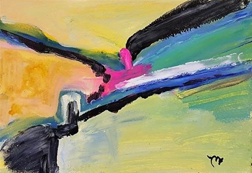 """""""Kiss"""" original fine art by Mechele Flowers"""