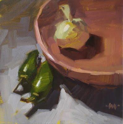 """Quarantine"" original fine art by Carol Marine"