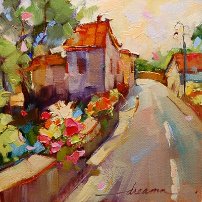 """""""All Roads Lead Home"""" original fine art by Dreama Tolle Perry"""