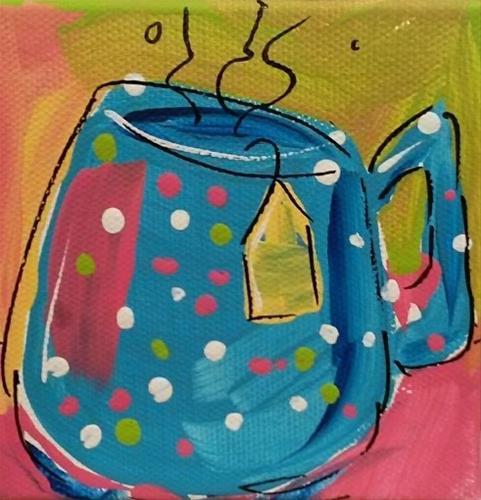 """Chunky Teacup"" original fine art by Terri Einer"