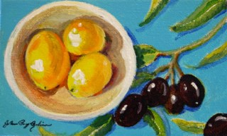 """Lemons and Olives"" original fine art by JoAnne Perez Robinson"
