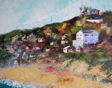 """Reflections on Crystal Cove"" original fine art by Deborah Harold"