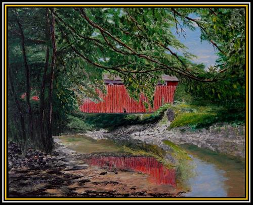 """Everett Road Bridge"" original fine art by Captain B Smith"