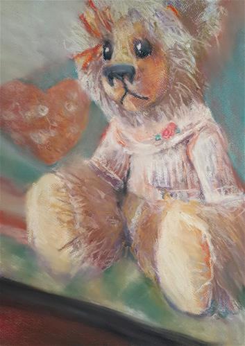 """Time to cuddle"" original fine art by Rentia Coetzee"