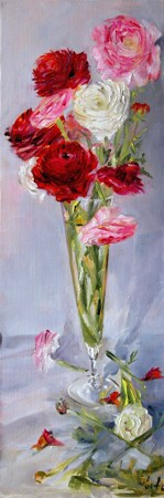"""Renoncules"" original fine art by Evelyne Heimburger Evhe"