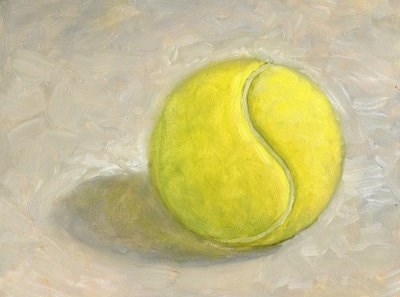 """Tennis Ball"" original fine art by Lael Henderson"
