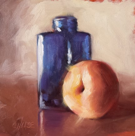 """Blue Bottle"" original fine art by Cindy Haase"