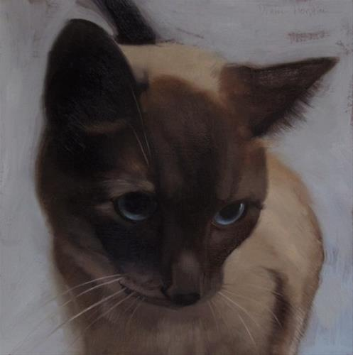 """Kindest Regard painting of Siamese cat"" original fine art by Diane Hoeptner"