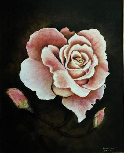 """Classic Rose"" original fine art by Karen Roncari"