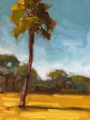 """Towering Palm"" original fine art by Laurel Daniel"