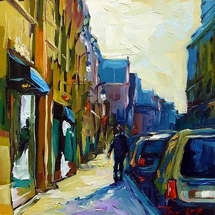 """""""Straßen von Stuttgart"""" original fine art by Jurij Frey"""