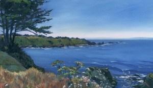 """Sunny Mendocino Coast"" original fine art by Mariko Irie"
