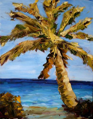 """""""Tropical Palm"""" original fine art by Kristen Dukat"""