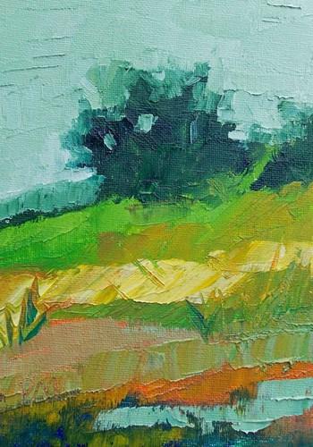 """""""Hillside Color"""" original fine art by Pamela Munger"""