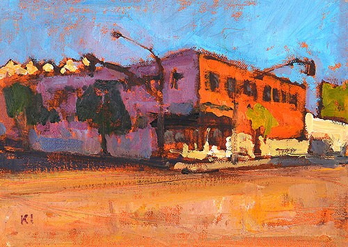 """East Village"" original fine art by Kevin Inman"