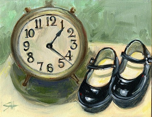 """Time Flies..."" original fine art by Sandy Haynes"