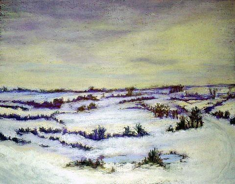"""Deep Snow in Sarum - Print"" original fine art by Jules Fine Art Gallery"