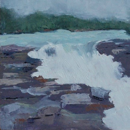 """ATHABASCA FALLS"" original fine art by Linda Popple"
