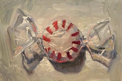 """""""Peppermint Candy"""" original fine art by Raymond Logan"""